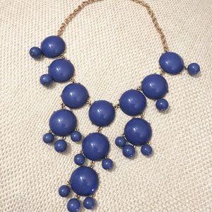Blue/Purple Bubble Statement Necklace
